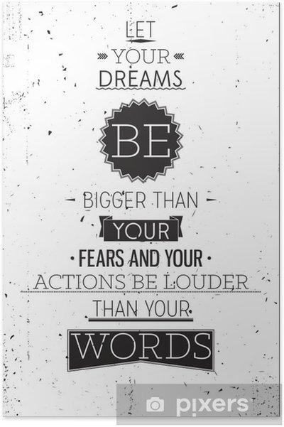 Poster Grunge style rétro affiche de motivation avec la typographie - Styles