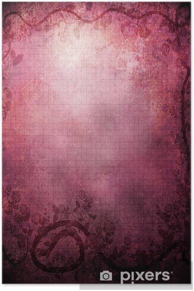 Poster Grunge valentine achtergrond - Gelukkig