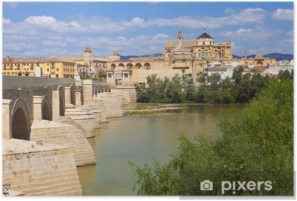 Poster Guadalquivir Par Le Pont Romain De Cordoue Et La Mosquee