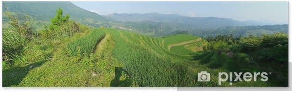 Poster Guangxi a Rizières - Asie