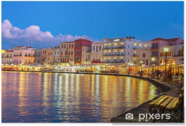 Poster Habour vénitien de Chania, Crète, Grèce - Thèmes