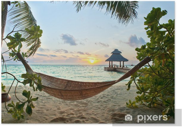 Hammock on the beach Poster - iStaging
