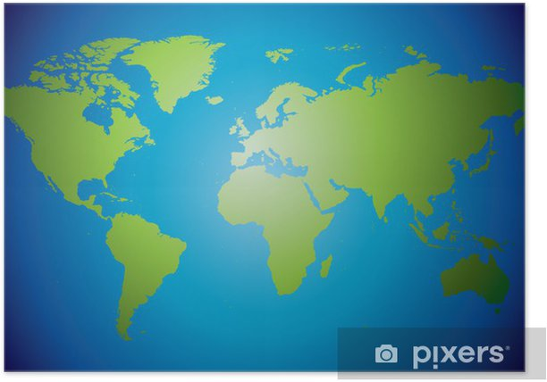 Hand drawn highly detailed world map Poster • Pixers® - We live on