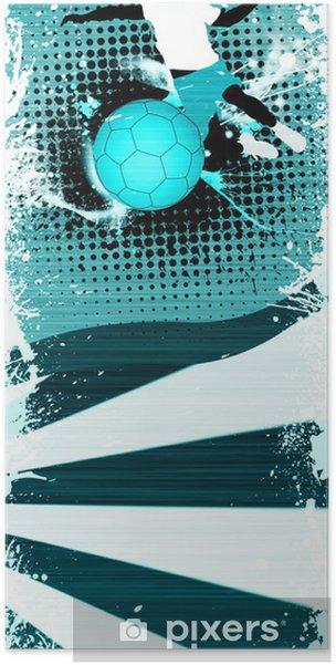 Poster Handball tir - Sports collectifs
