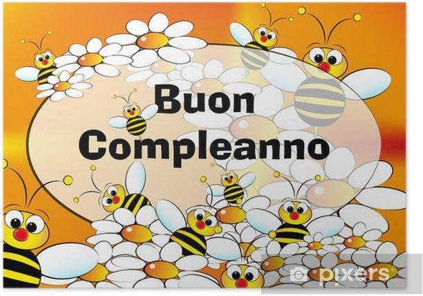 Happy Birthday Card Italian Poster Pixers We Live To Change