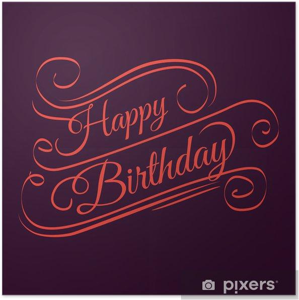 Poster Happy birthday - Célébrations