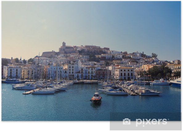 Harbor in Ibiza Town, Balearic Islands, Spain Poster - Themes