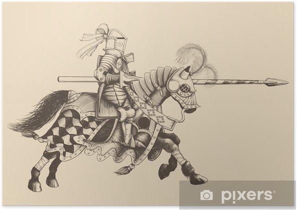 Poster Häst Knight av turneringen - Riddare