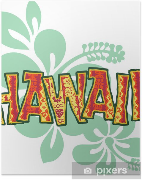 Poster Hawaii - Vacances