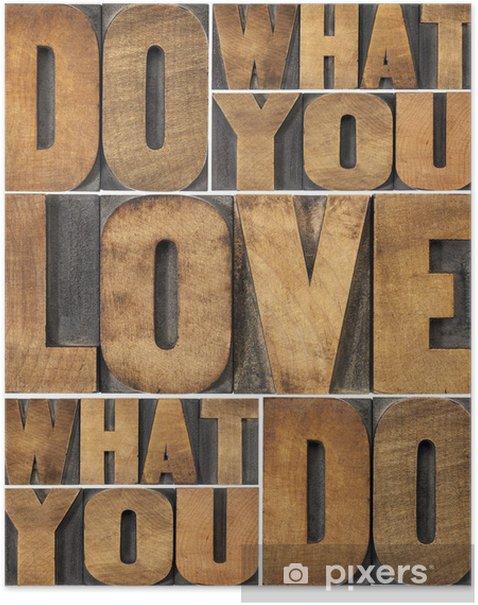 Póster Haz lo que amas - Destinos