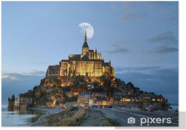 Poster HDR du Mont-Saint-Michel - Vacances