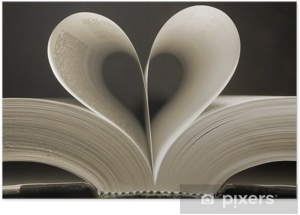 heart shaped book Poster - iStaging