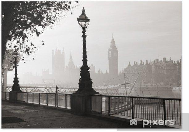 Heavy fog hits London Poster - Themes