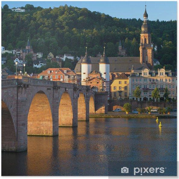 Poster Heidelberg vieux pont - Europe