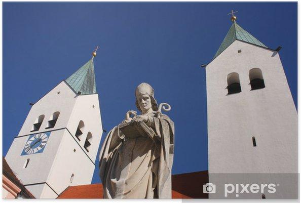 Poster Heiliger Korbinian vor Freisinger Dom - Religion