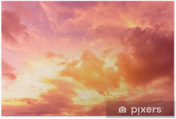 Poster Heldere zonsondergang hemelachtergrond - Landschappen