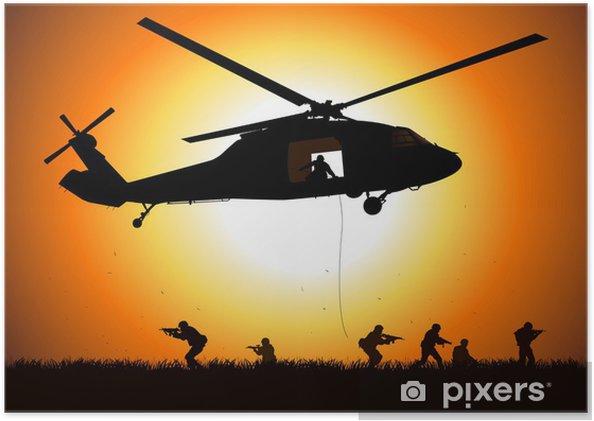 Poster Hélicoptère est en baisse troupe - Destin