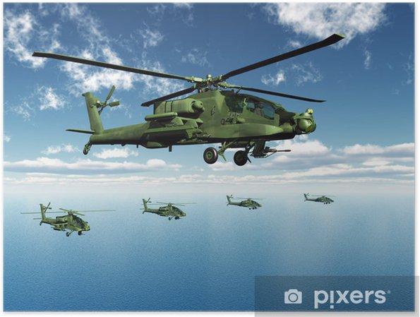 Poster Hélicoptères Apache - Thèmes