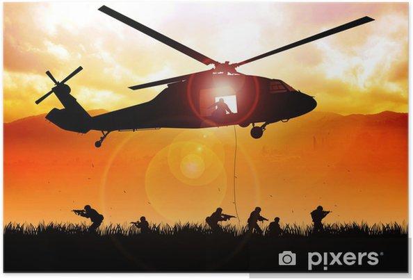 Poster Helikopter daalt de troepen - Thema's