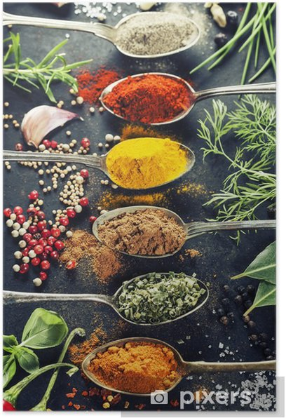 Herbs and spices selection Poster - Herbs