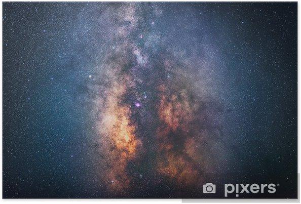 Poster Het centrum van de Melkweg - Ruimte