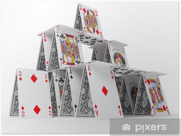 Poster Het kaartenhuis - Amusement