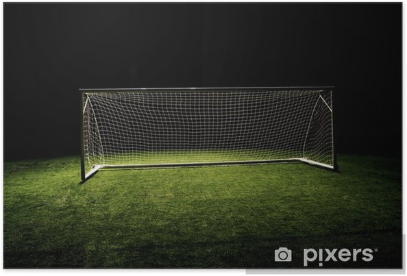 High angle photo of Soccer Goal or Football Goal Poster - Team Sports 57ef7abf49ee4