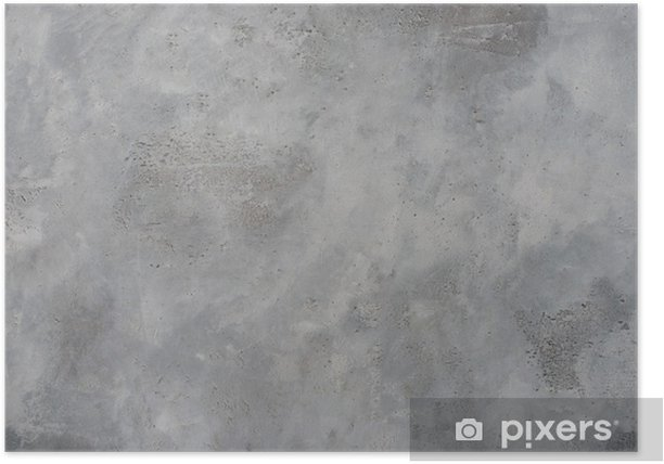 High resolution rough gray textured grunge concrete wall, Poster - Themes