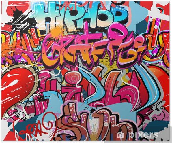 Poster Hip-hop graffiti fond d'art urbain - Thèmes