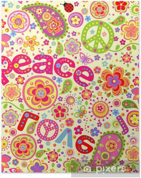 Hippie wallpaper Poster