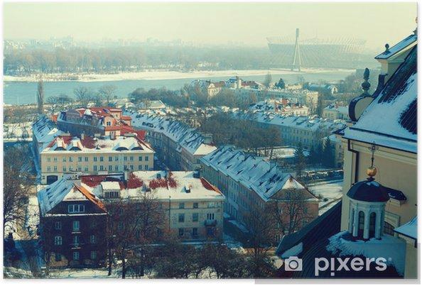 Poster Hiver à Varsovie - Villes européennes