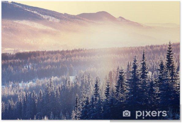 Poster Hiver Montagne - Saisons