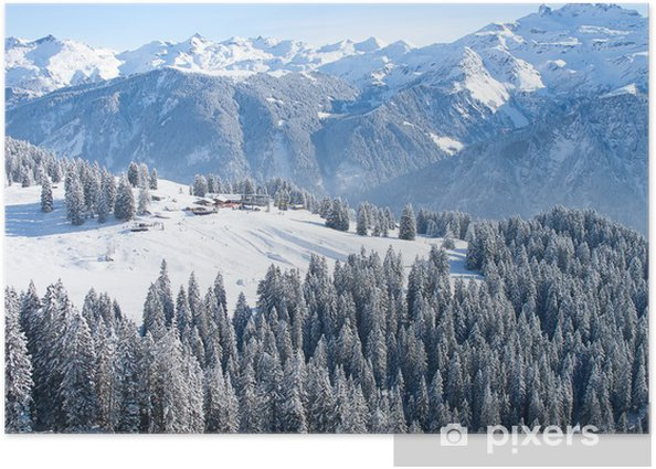 Poster Hiver paysage - Europe