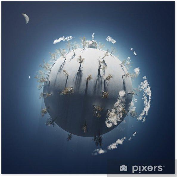 Poster Hiver sur la petite planète - Saisons