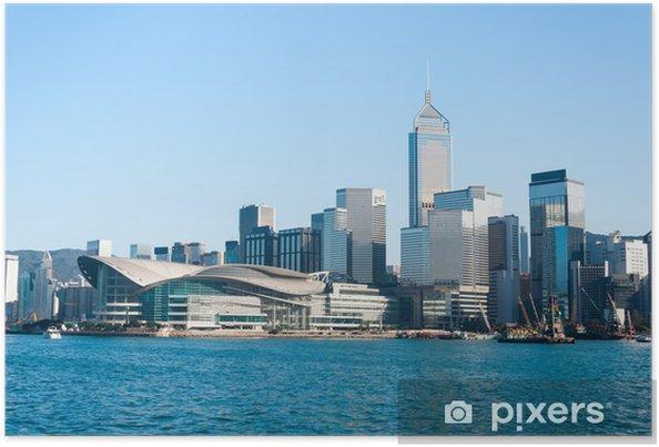 Poster Hong Kong skyline - Villes d'Asie
