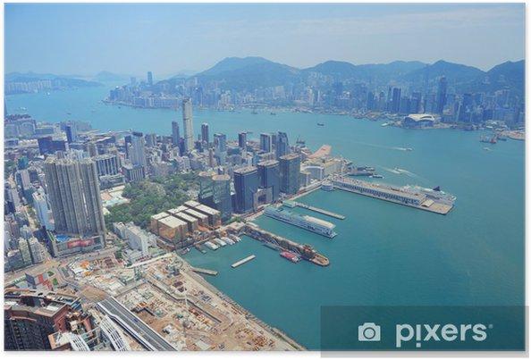 Póster Hong Kong vista aérea - Asia