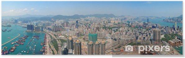 Poster Hong Kong vue aérienne - Asie