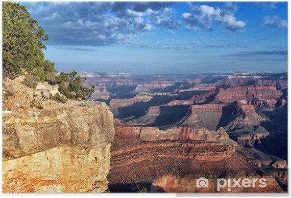 Poster Horisontellt synsätt på berömda Grand Canyon - Amerika