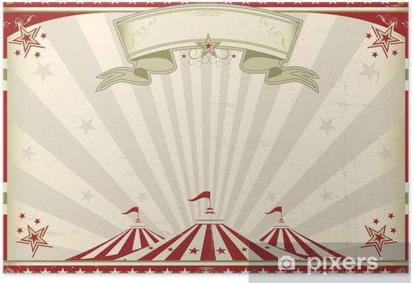 Horizontal Vintage Circus Poster