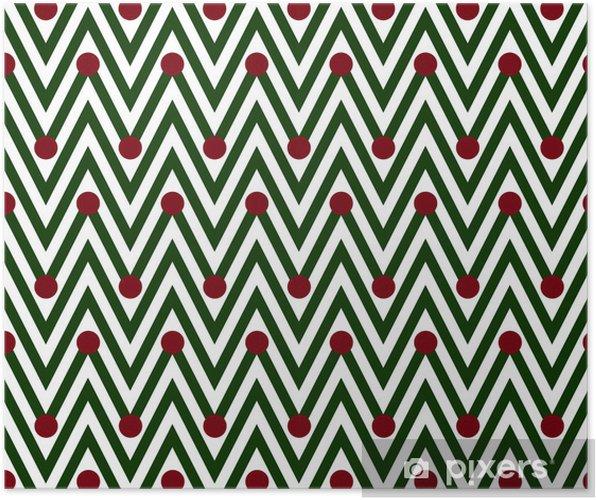 Poster Horizontales vertes et blanches de Chevron rayé avec pois Backg - Arrière plans
