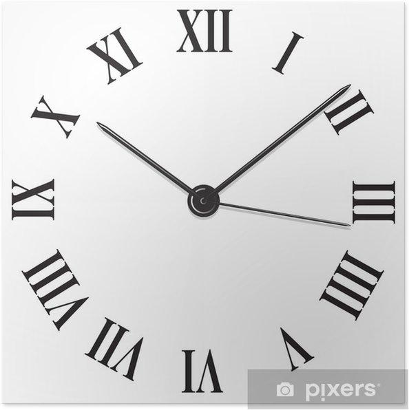 poster horloge chiffre romain pixers nous vivons pour changer. Black Bedroom Furniture Sets. Home Design Ideas