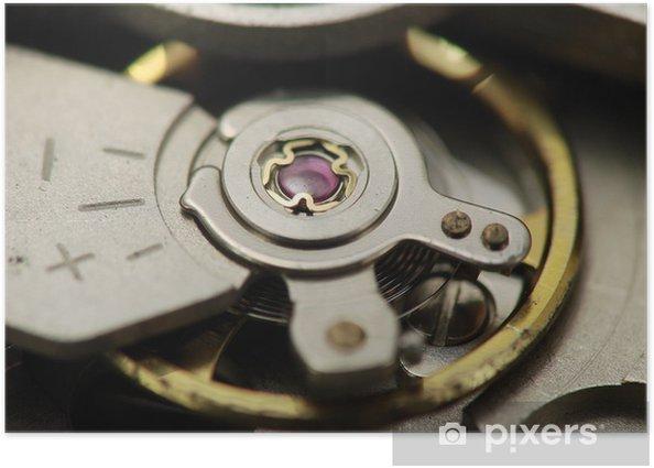Poster Horloge mécanique dans - Mode
