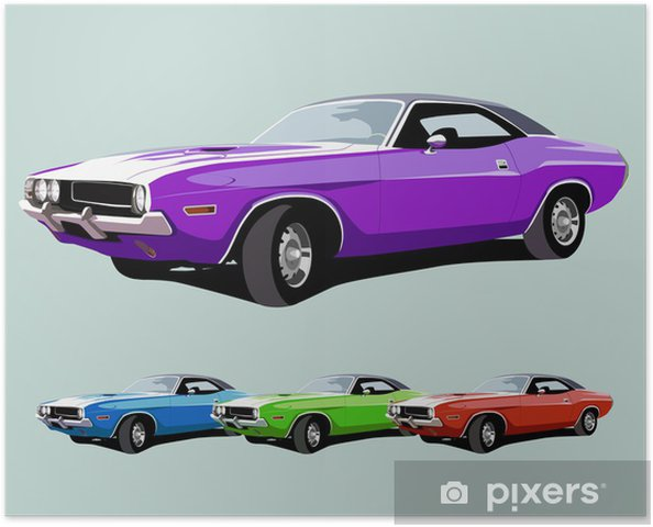 Hot American Muscle Car Poster Pixers We Live To Change
