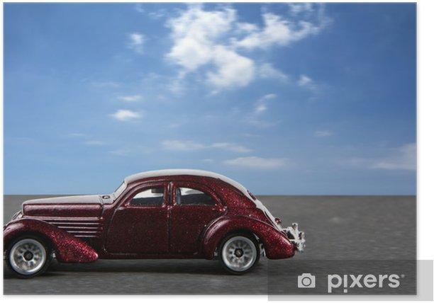 Poster Hotrod américain - Sur la route