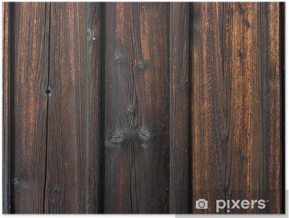Planken Voor Aan De Wand.Poster Houten Wand Met Verbrande Planken Pixers We Leven Om Te