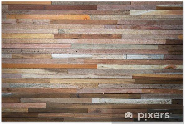 poster houten wand • pixers® - we leven om te veranderen