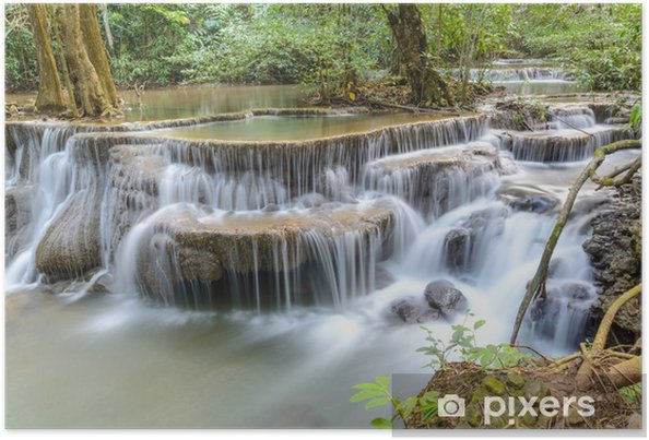 Poster Huay Mae Kamin Cascade à la province de Kanchanaburi, Thaïlande - Thèmes