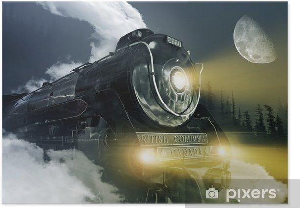 Poster Hudson Locomotive à vapeur -