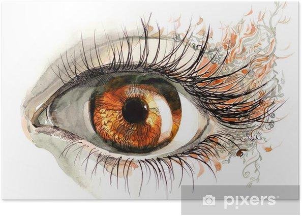 human eye Poster - Themes