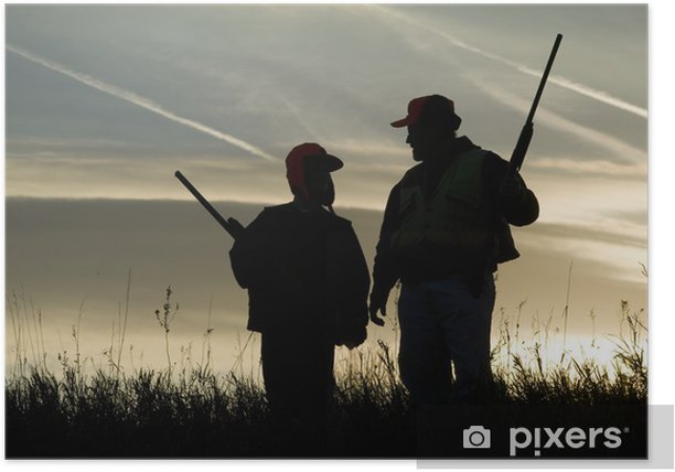 Hunting Silhouette Poster - Agriculture